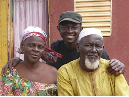 Abdoulaye with Father and Mother